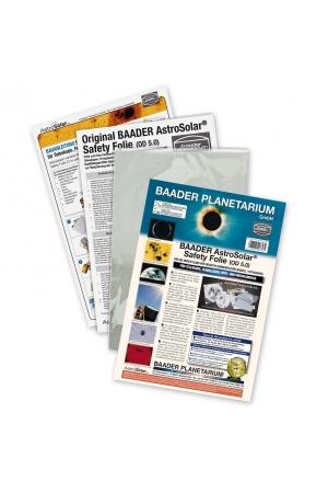 AstroSolar Safety Folie 5.0 Visuel 20x30cm und 100x50cm AstroSolar® Safety Film 5.0, 20x29cm