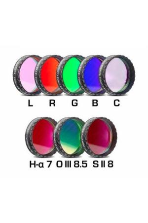 """CCD Komplettfiltersatz II 1¼"""", L-RGB-C/H-alpha 7nm/OIII 8.5nm/SII 8nm"""