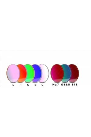 CCD Komplettfiltersatz II 50.4mm, L-RGB-C/H-alpha 7nm/OIII 8.5nm/SII 8nm