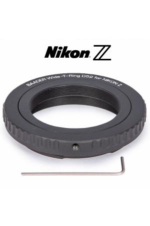 Wide-T-Ring Nikon Z mit D52i auf T-2 und S52